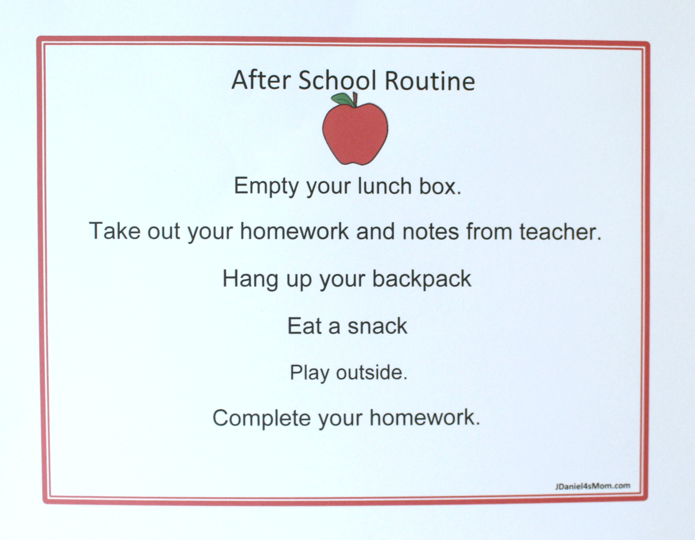 Back to School Printables - Back to School Editable After School Chore Chart