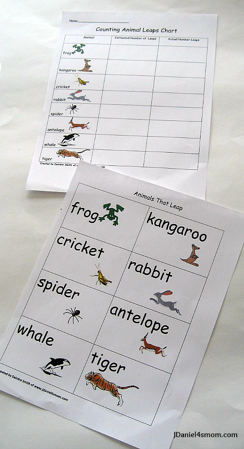 Animals that Leap Worksheets