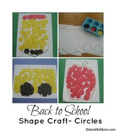Back to School Shapes Craft- Circles