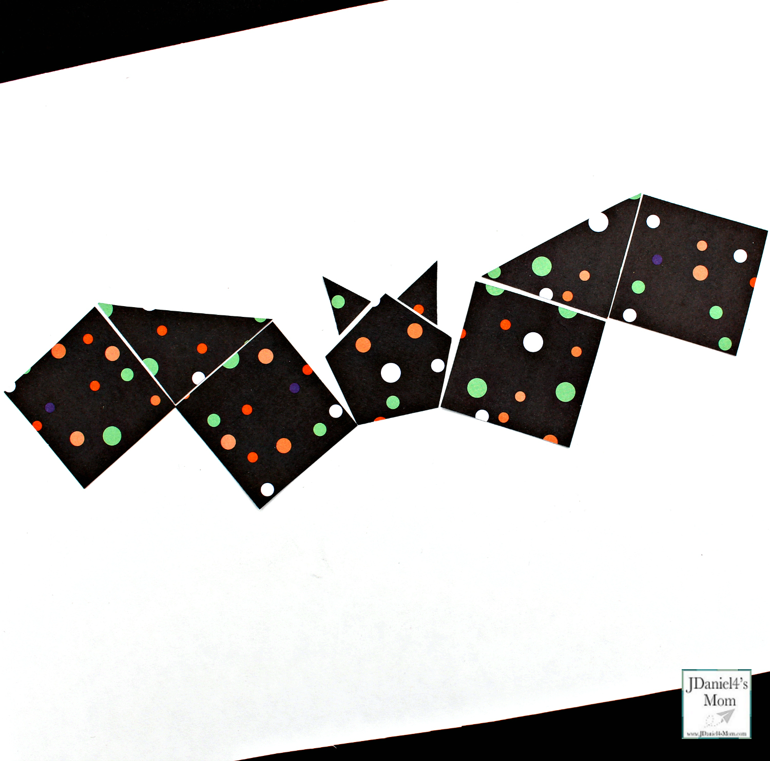 Halloween Bat Crafts That Explore Shapes - Made with Polka Dot Paper