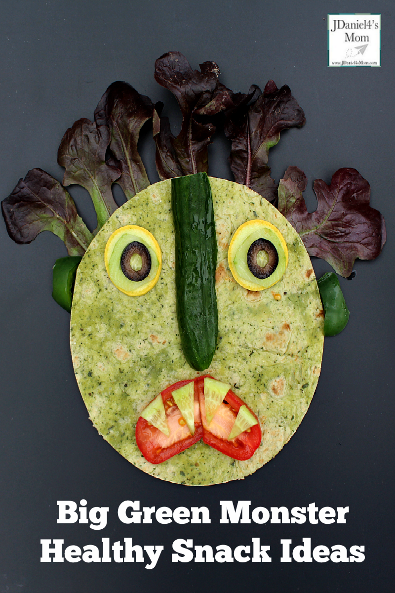 Big Green Monster Healthy Snack Ideas - Your children at home or students at school with have fun building and then inhaling this fun and healthy snack. based on the book Go Away, Big Green Monster. It will probably become one of their favorite healthy snack ideas.