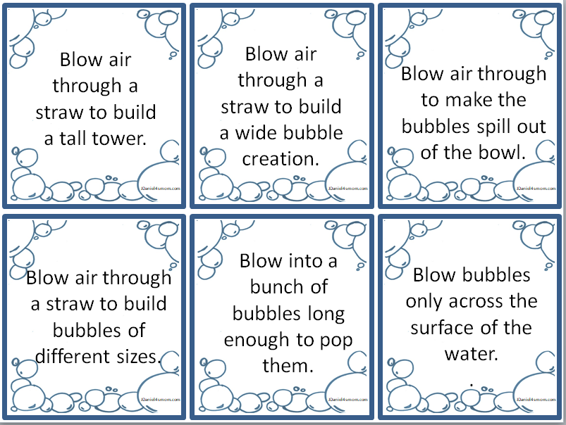 Bubble Games and Activities- This one of the exploration cards.