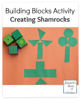 Building Blocks Activity Creating Shamrocks