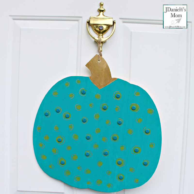 Teal Pumpkin Project That is Easy for Families to Spot - Large Pumpkin with Buttons