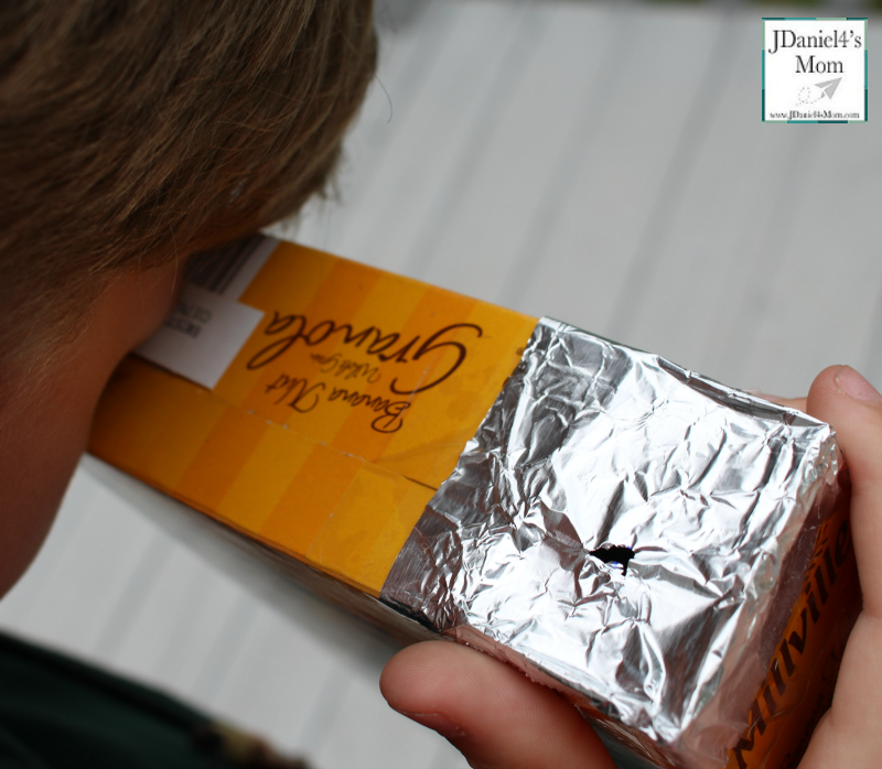 Eclipse Viewer - Camera Obscura Made from a Cereal Box : Using the Camera Obscura to View the Sun