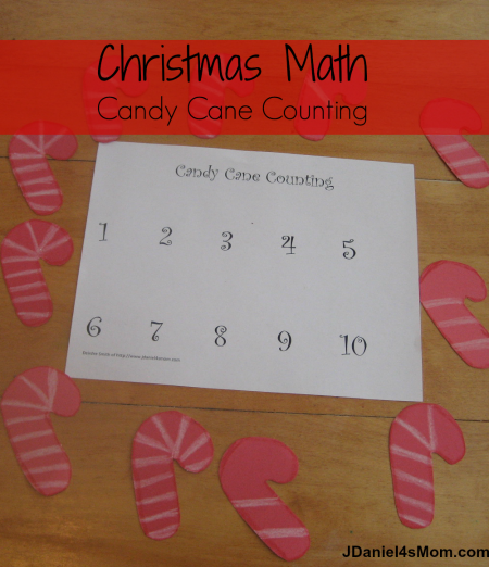 Christmas Math-Candy Cane Counting