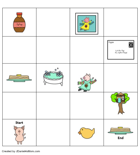 If You Give a Pig a Pancake Coding Printable - Children at home and students at school can learn about coding and building an algorithm while exploring this printable. It can be printed in BW or color. Children will love coding a favorite story. Here is what the coding printable looks like.