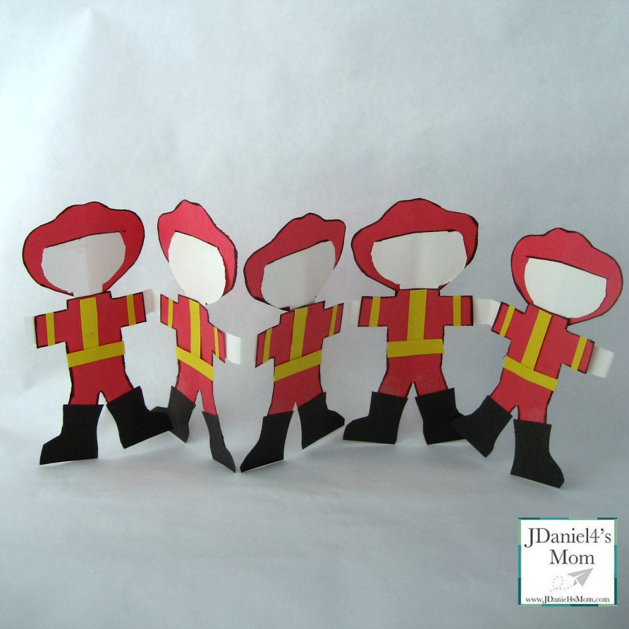 Community Helpers-Five Little Firefighters