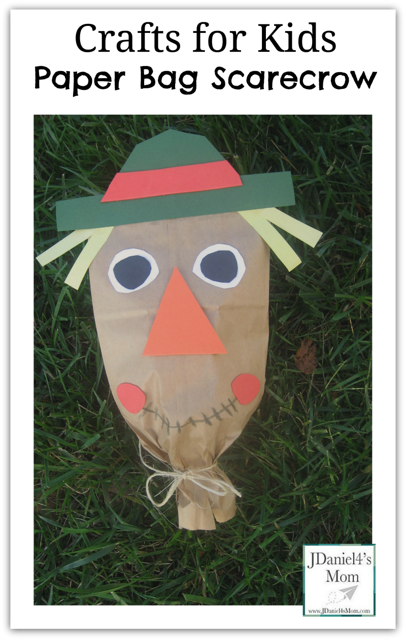 Scarecrow activities for kids for Brown paper bag crafts for preschoolers