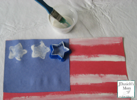 0439db59e00c Crafts for Kids- Painted American Flag