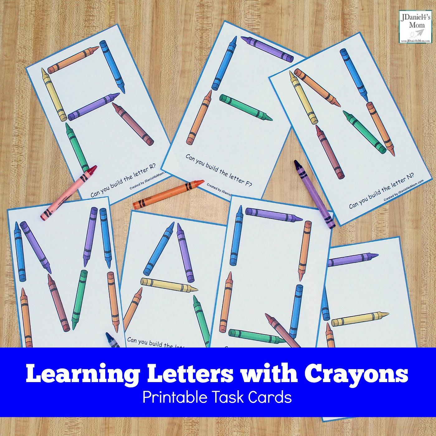 graphic relating to Printable Letter Cards called Mastering Letters with Crayons Printable Activity Playing cards