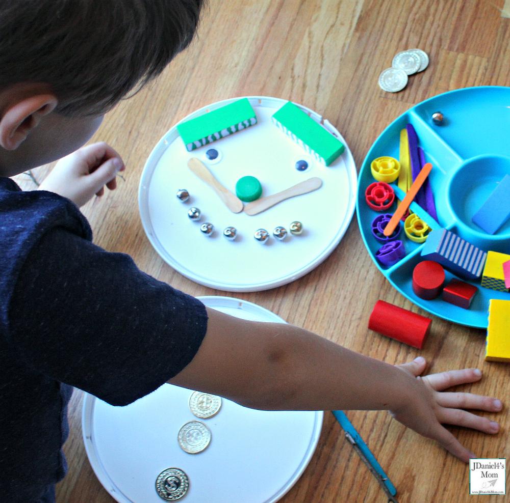 Do You Want to Build a Snowman Preschool Activity -Adding a Face