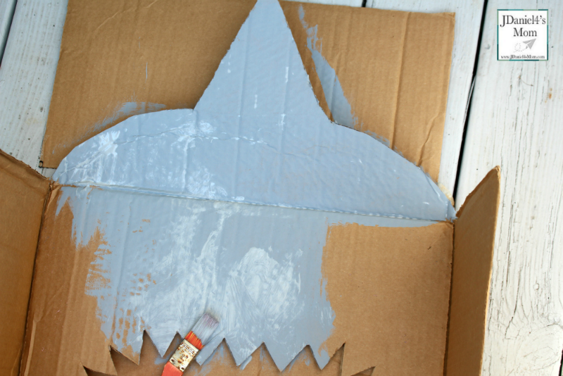 DIY Nerf Target for Shark Week- Painting