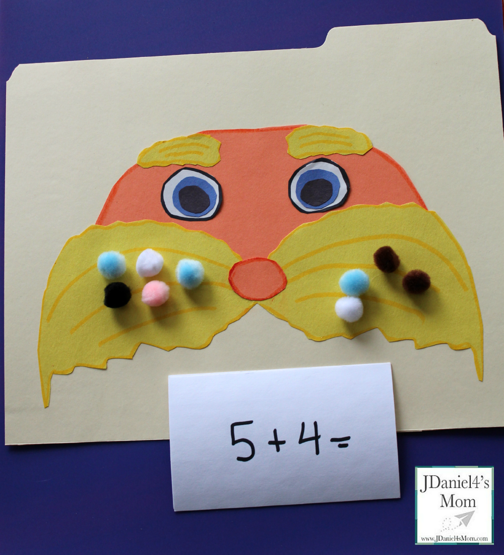 Doctor Seuss Math Game- Lorax Adding