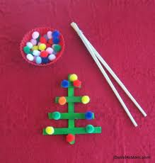 Christmas Activity- Balancing Pom Poms