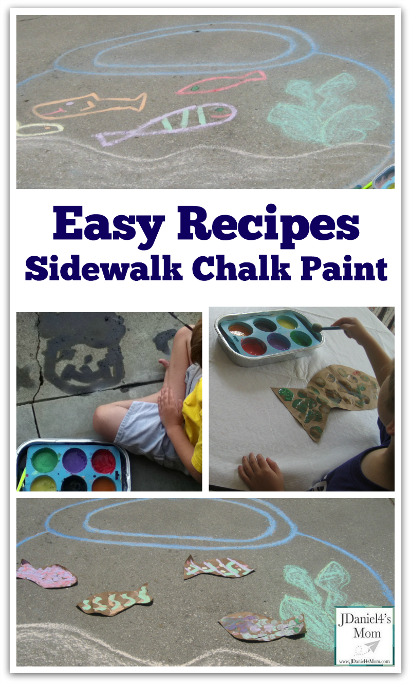 Easy Recipes- Sidewalk Chalk Paint