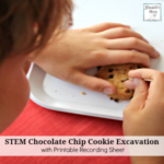 STEM Chocolate Chip Cookie Excavating Activity with Free Recording Printable