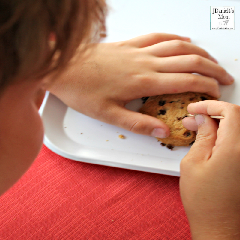CSTEM Chocolate Chip Cookie Excavating Activity with Free Recording Printable (Excavating the Chips)