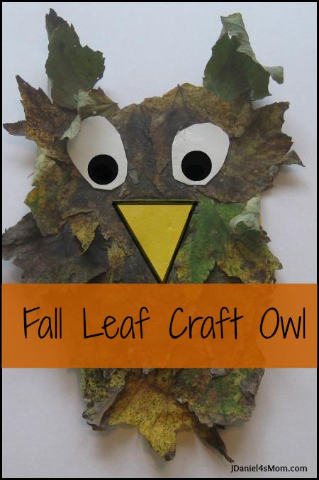 Fall Leaf Craft Owl