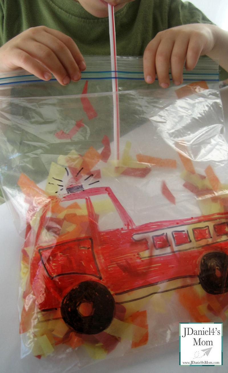 firefighter preschool truck activity for 118