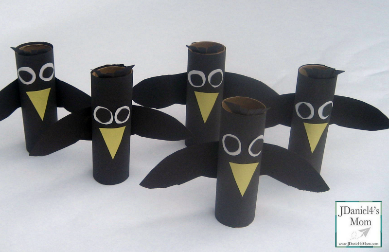 Five Little Crows- Preschool Games, Songs, and Craft