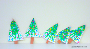 Five Little Christmas Trees Song and Craft