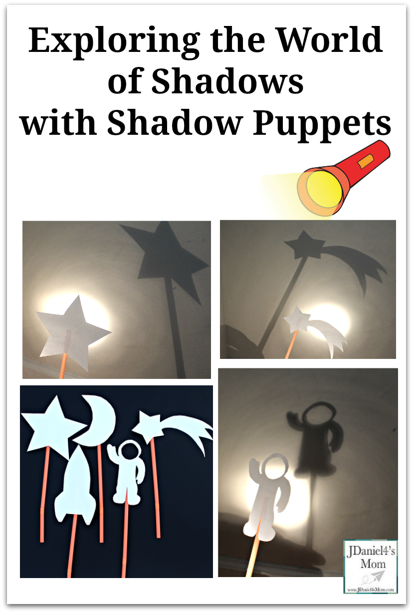 Exploring the World of Shadows with Shadow Puppets - This activity is a great way to explore shadows and teach them that they don't need to fear them. The shadow puppets have a space theme.