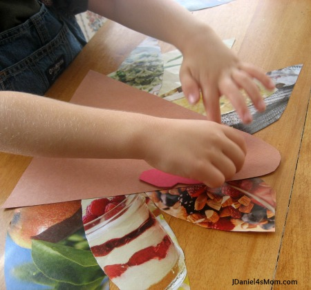 Turkey Craft and a Thanksgiving Book - Adding a Face