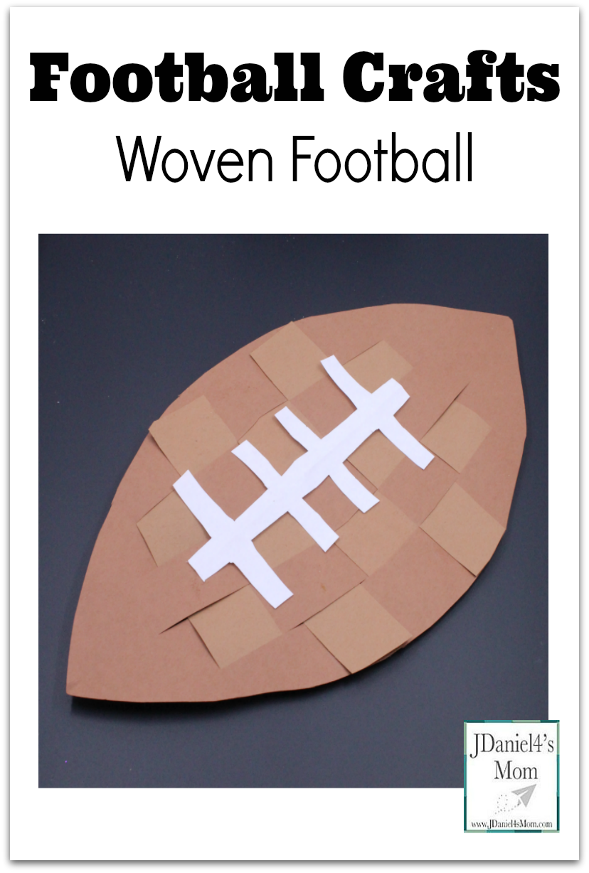 This post shares several wonderful football crafts. The featured craft is the woven football craft pictured above.