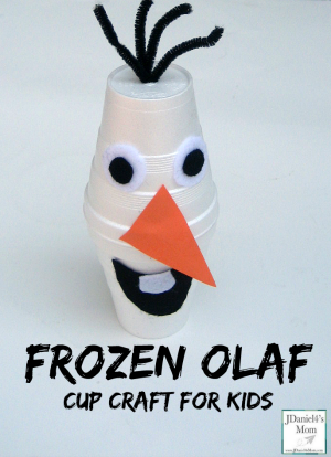 Frozen Olaf Cup Craft for Kids