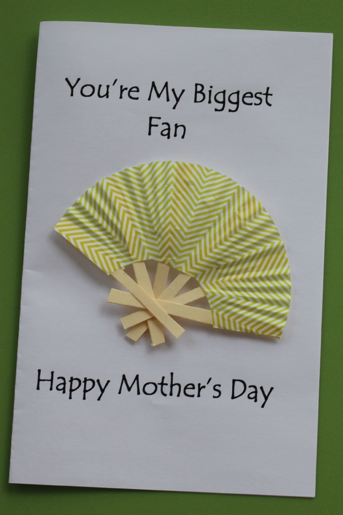 "Mother's Day Card Idea- ""You're My Biggest Fan"""