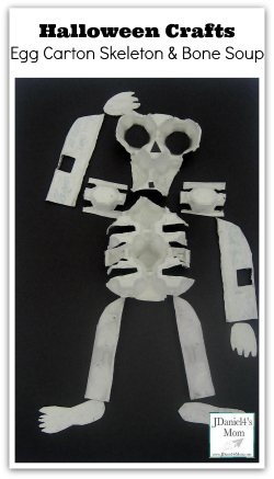 Halloween Crafts- Egg Carton Skeleton and Bone Souop