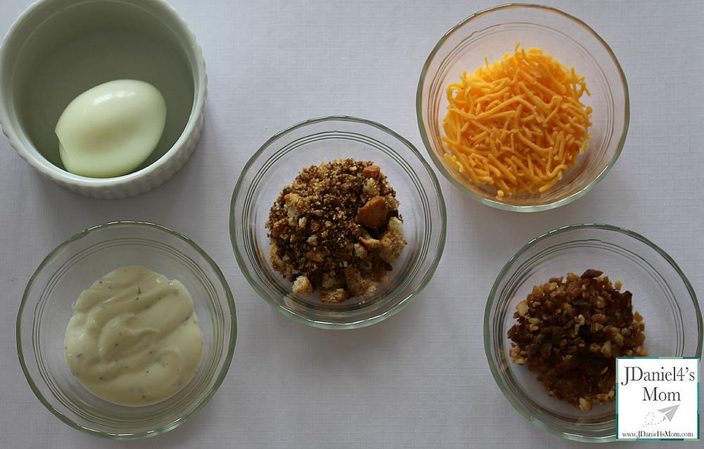 hard boiled eggs recipe- egg toppings bar
