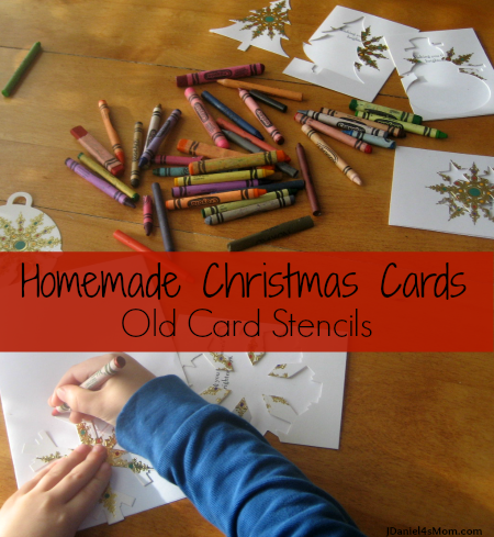 Homemade Christmas Cards- Old Card Stencils