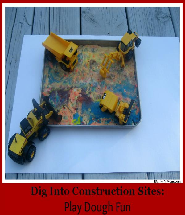 Dig Into Construction Sites- Play Dough Fun