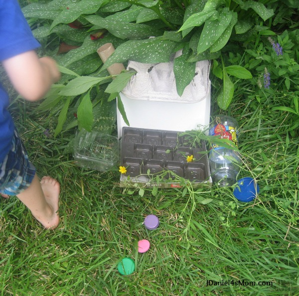 Building a Gnome Home -Recycled Materials Activity
