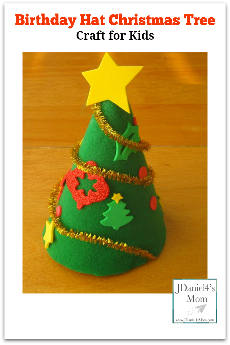 Birthday Hat Christmas Tree Craft For Kids