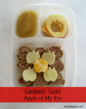 Kids Lunch Apple of My Eye Sandwich Sushi