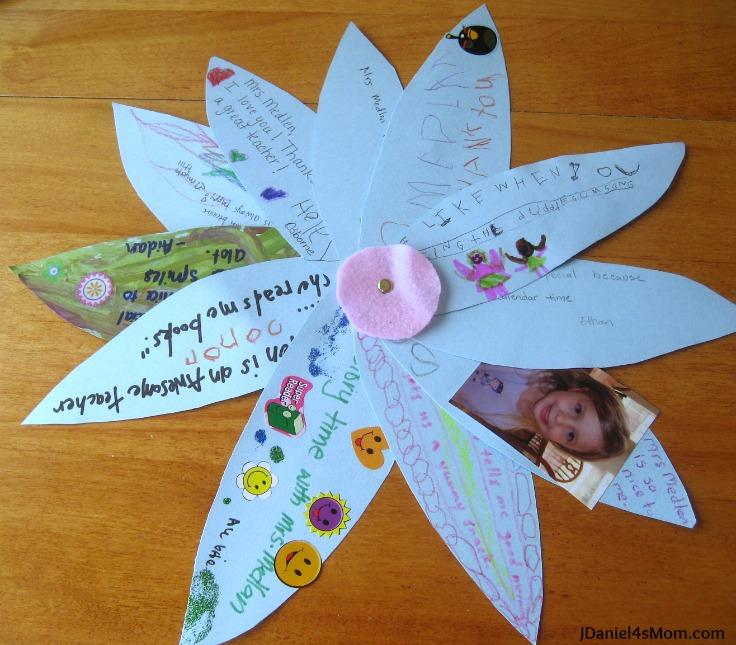 Teacher Appreciation Gift Class Thank You Flower