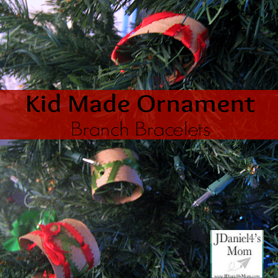 Kid Made Ornaments -Branch Bracelets