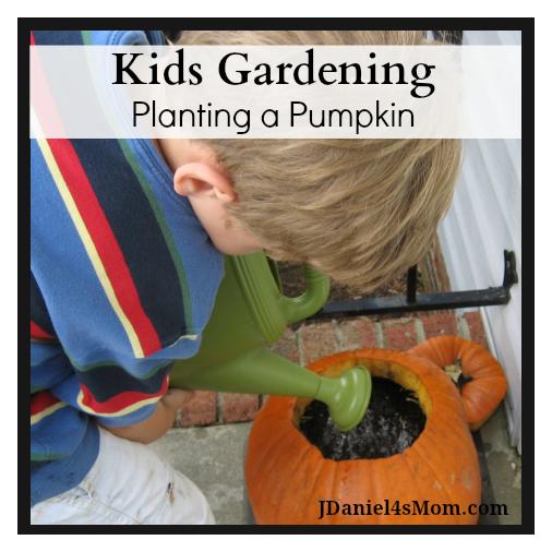 Kids Gardening Planting a Pumpkin