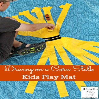 Kids Play Mat- Driving on a Corn Maze