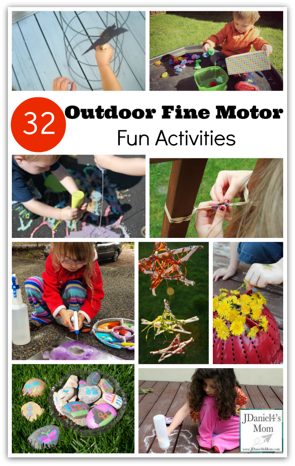 kids outdoor fine motor fun activities