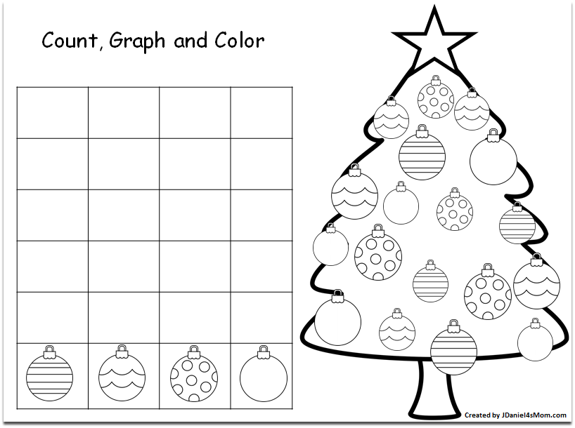 Christmas Graphs Printable