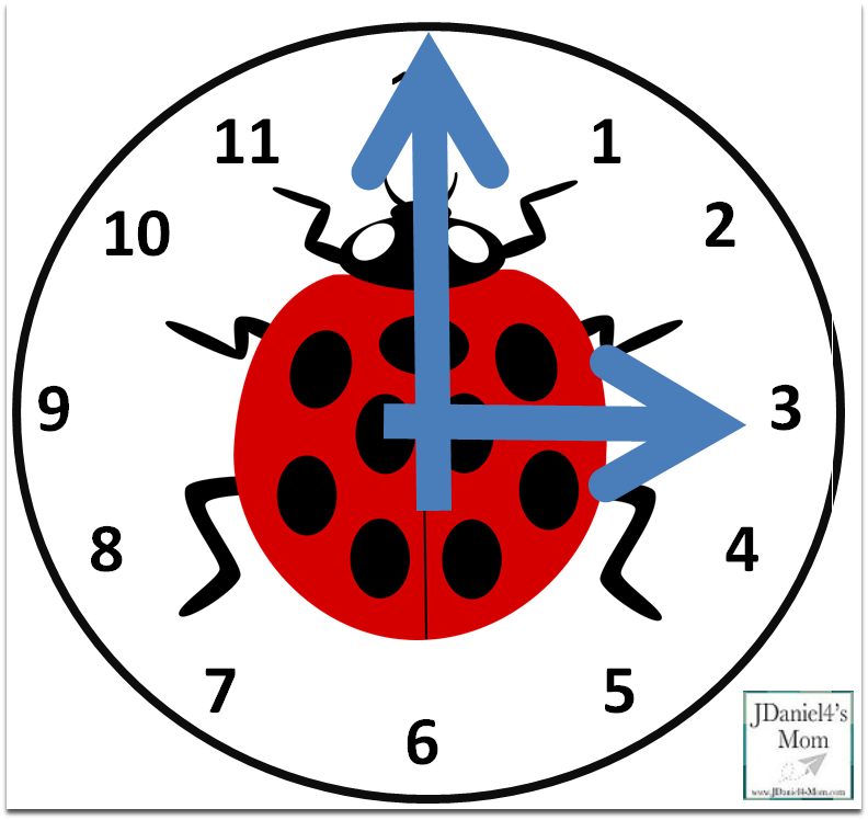 Telling Time Worksheets with Ladybugs - Telling Time Clock