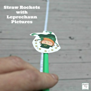 Straw Rockets with Leprechaun Pictures