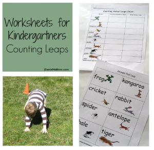 Worksheets for Kindergartners: Counting Leaps