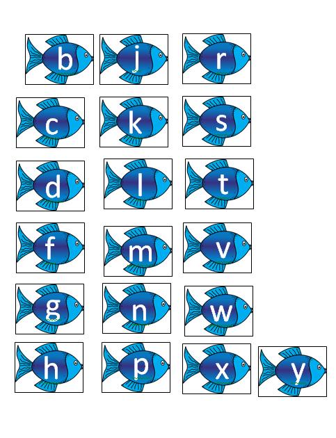 Consonant Letter Fish Printable