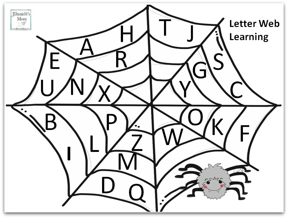 Alphabet Match Game with a Spider Theme - Letter Web