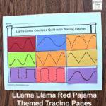 Llama Llama Red Pajama Themed Tracing Pages